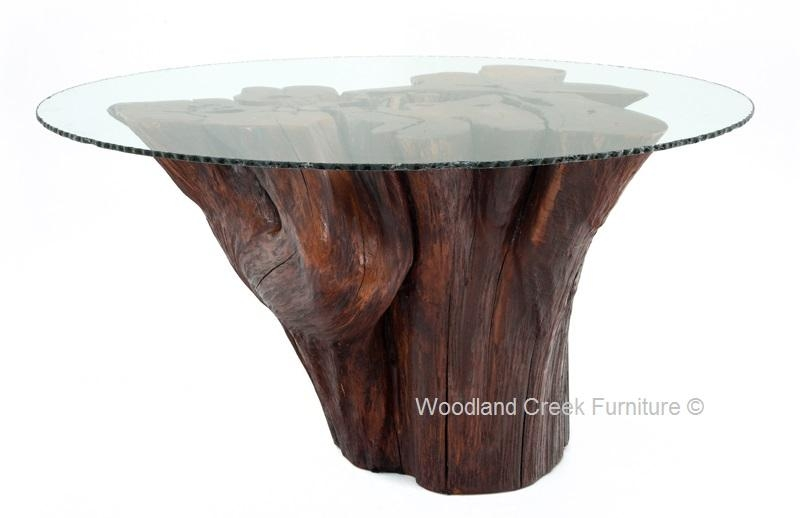 Stump Table, Log Table, Tree Base Table, Rustic Furniture Throughout Tree Dining Tables (Image 17 of 20)
