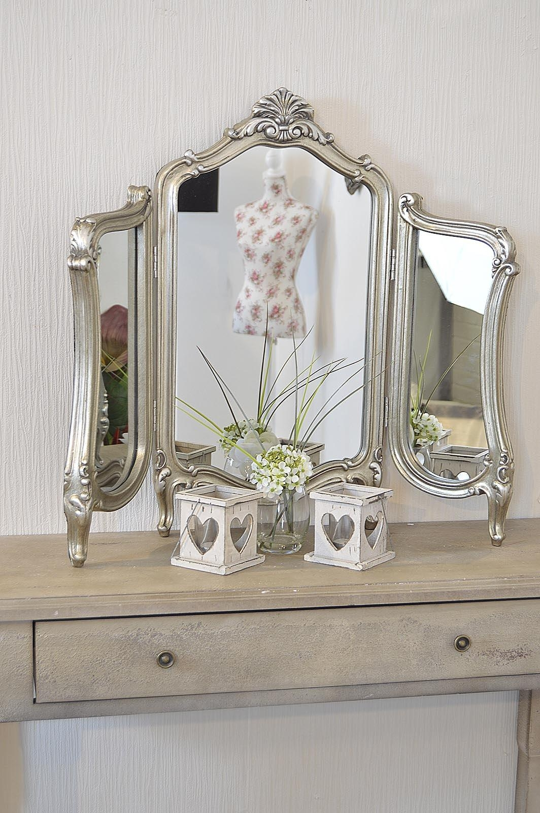Stunning Antique Design Free Standing Dressing Table Mirror – M315 Intended For Dressing Table Mirrors (View 9 of 20)