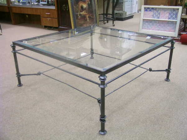 Stunning Best Antique Glass Top Coffee Tables Intended For Wrought Iron Glass Coffee Table (View 33 of 50)