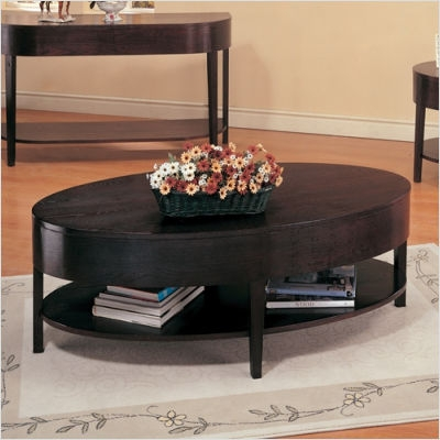 Stunning Best Black Oval Coffee Tables Within Oval Coffee Table Sets (View 10 of 40)