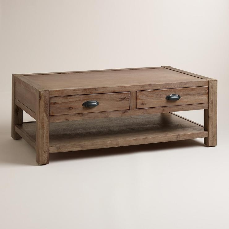 Stunning Best Chunky Wood Coffee Tables Within Quade Coffee Table In Brown (Image 42 of 50)