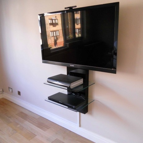 Stunning Best Floating Glass TV Stands Throughout Floating Media Shelf Great Modern Floating Media Cabinet For The (Image 42 of 50)