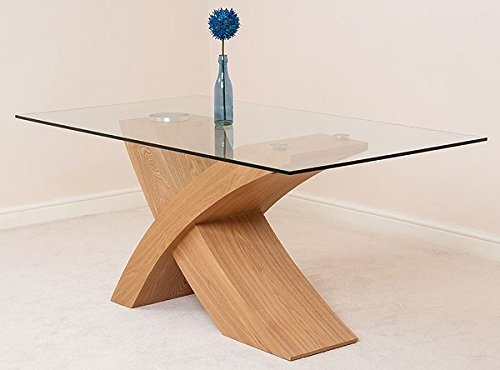 Stunning Best Glass Oak Coffee Tables Pertaining To Modern Furniture Direct Valencia Glass And Wood Dining Table (Image 42 of 50)