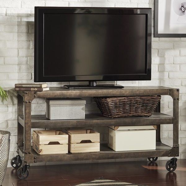 Stunning Best Industrial TV Stands With Regard To Rustic Tv Stand Entertainment Center Industrial Storage Iron Media (Image 44 of 50)