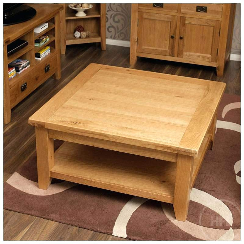 Stunning Best Light Oak Coffee Tables With Drawers Throughout Coffee Table Round Oak Coffee Table With Square Baselow Large (View 28 of 40)