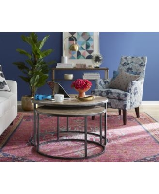 Stunning Best Monterey Coffee Tables With Monterey Coffee Table Round Nesting Furniture Macys (Image 39 of 50)