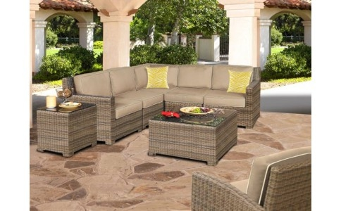 Stunning Best Monterey Coffee Tables Within Monterey Sectional Set Chicago Wicker Outdoor Seating (Image 40 of 50)