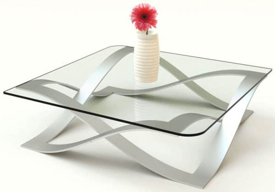 Stunning Best Rectangle Glass Chrome Coffee Tables Within Glass Chrome Coffee Table Rectangle Nucleus Home (Image 44 of 50)