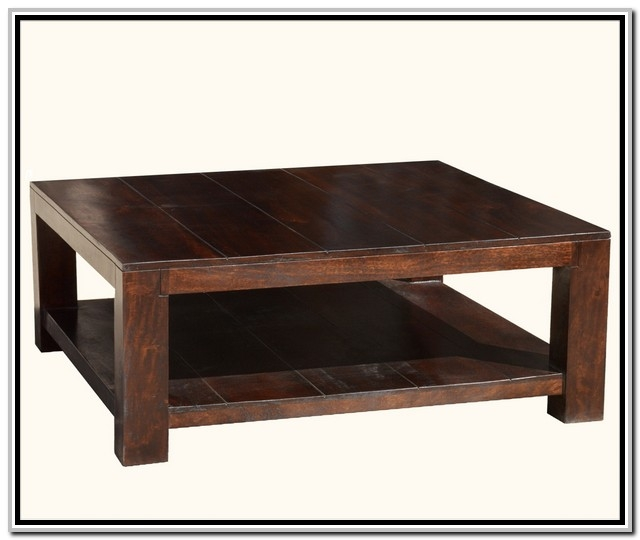 Stunning Best Square Dark Wood Coffee Tables For Coffee Table Breathtaking Square Wood Coffee Table Ideas 60 Inch (Image 40 of 50)