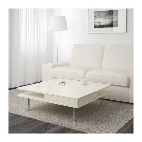 Stunning Best White Gloss Coffee Tables In Tofteryd Coffee Table High Gloss White 95×95 Cm Ikea (View 14 of 50)