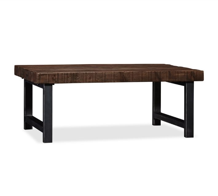 Stunning Best Wrought Iron Coffee Tables Intended For Griffin Reclaimed Wood Coffee Table Pottery Barn (Image 43 of 50)