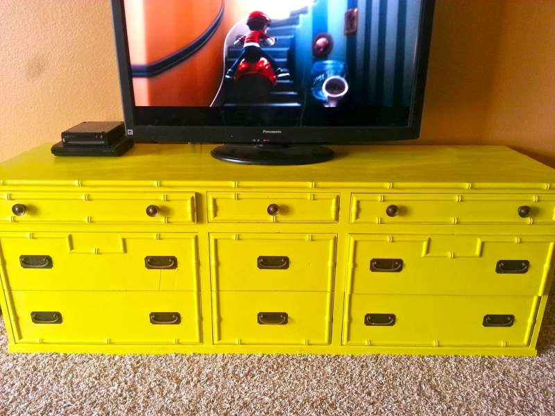 Stunning Best Yellow TV Stands Pertaining To Friday Favorites The Seaside Baker (View 37 of 50)