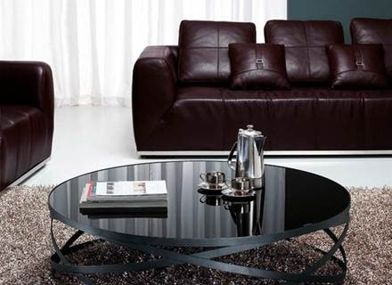 Stunning Brand New Black Glass Coffee Tables Pertaining To Coffee Table Polar Round Black Glass And Chrome Coffee Table (Image 46 of 50)