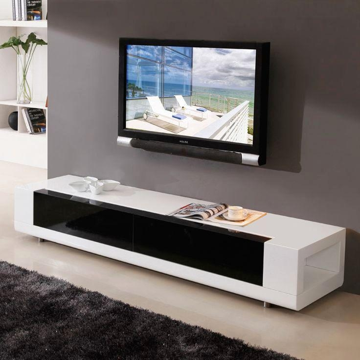Stunning Brand New Black TV Stands With Glass Doors Pertaining To Tv Stands Brandnew Credenza Tv Console 2017 Collection Tv Console (Image 41 of 50)
