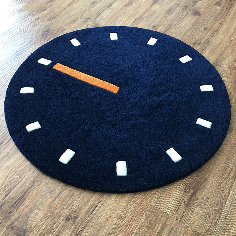 Stunning Brand New Clock Coffee Tables Round Shaped With Round Shaped 90cm Simple Style Clock Dial Pattern Carpet  (Image 46 of 50)