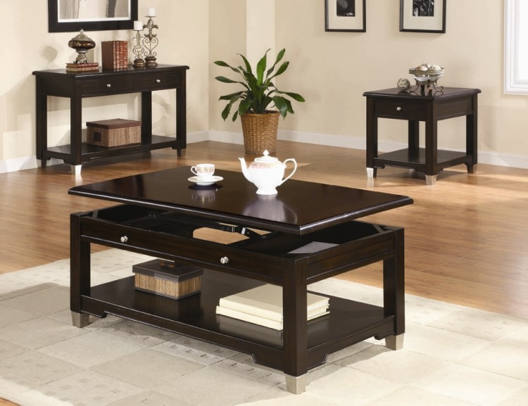 Stunning Brand New Contemporary Coffee Table Sets Inside Modern Coffee Table Set Table And Estate (View 13 of 50)