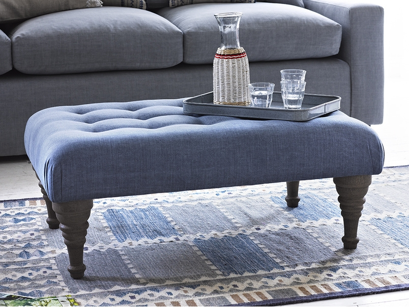 Stunning Brand New Footstool Coffee Tables Intended For Brilliant Buttoned Footstool Bloomer Loaf (Image 35 of 40)