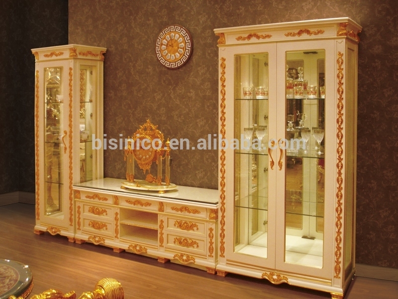 Stunning Brand New Gold TV Cabinets With Regard To New Item Antique Living Room Furniture Settv Stand And Display (Image 42 of 50)