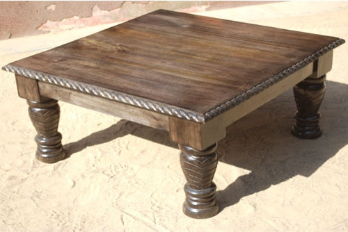 Stunning Brand New Square Dark Wood Coffee Tables Throughout Distressed Dark Wood Coffee Table Idi Design (Image 41 of 50)