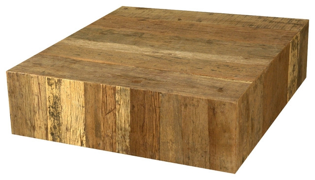 Stunning Brand New Square Large Coffee Tables Pertaining To Rustic Railroad Wood Square Coffee Table Rustic Coffee Tables (Image 41 of 50)