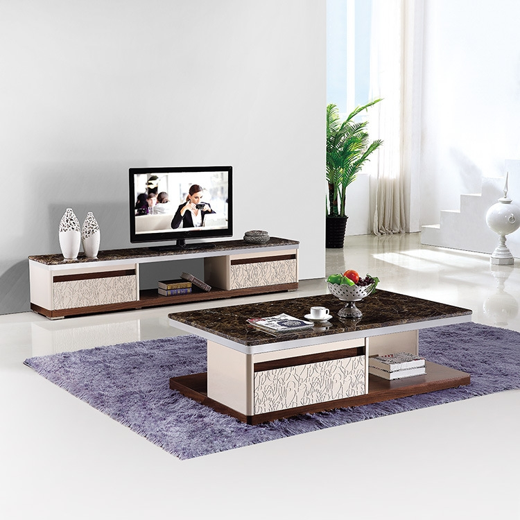 Stunning Brand New TV Cabinets And Coffee Table Sets Intended For And Modern Marble Countertops Combination Living Room Coffee Table (Image 41 of 50)