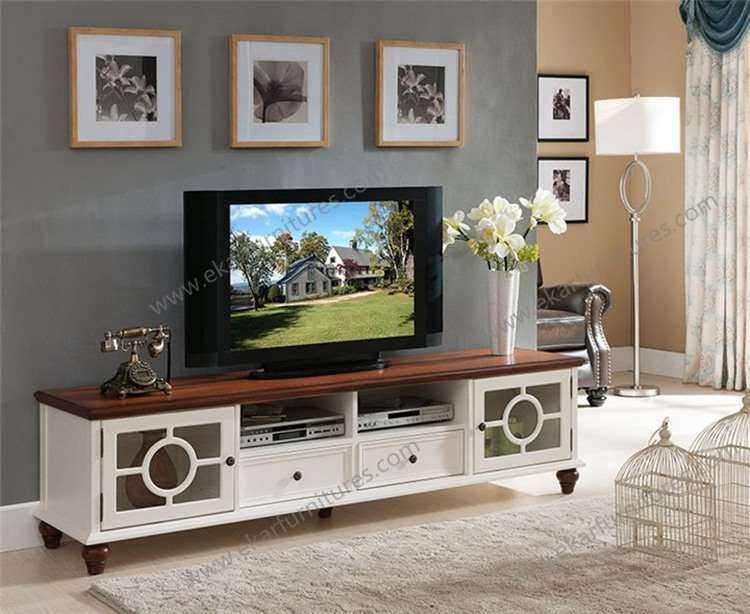 Stunning Brand New White And Wood TV Stands With Vintage Antique Country Style Wooden White Tv Bench Buy Tv Bench (Image 41 of 50)