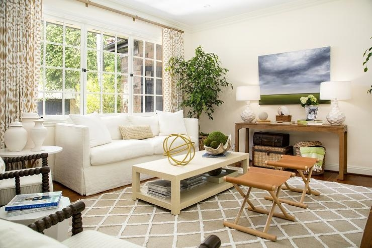 Stunning Common Beige Coffee Tables For Cognac Leather Sofa Design Ideas (Image 35 of 40)