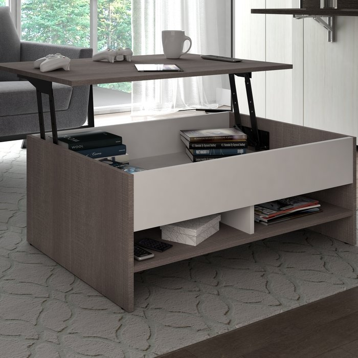 Stunning Common Coffee Tables With Lift Top Storage Within Latitude Run Frederick Storage Coffee Table With Lift Top (View 43 of 50)