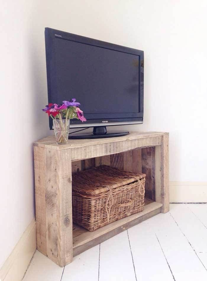 Stunning Common Corner TV Stands With Drawers Intended For Best 25 Pallet Tv Stands Ideas Only On Pinterest Rustic Tv (Image 45 of 50)