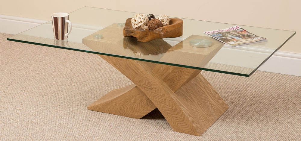 Stunning Common Glass Oak Coffee Tables Regarding Glass And Wood Coffee Table Modern Coffee Table Round Round (Image 44 of 50)