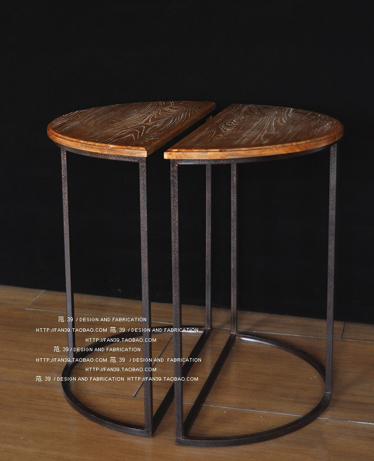 Stunning Common Half Circle Coffee Tables For American Village Wrought Iron Coffee Table Half Round Table Bar (View 6 of 40)