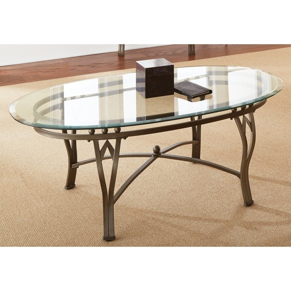 Stunning Common Metal Coffee Tables With Glass Top Throughout Oval Metal Glass Coffee Tables (Image 40 of 50)