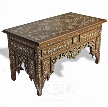 Stunning Common Mother Of Pearl Coffee Tables Intended For Mediterranean Levantine Syrian Furniture Inlaid With Mother Of (Image 37 of 50)