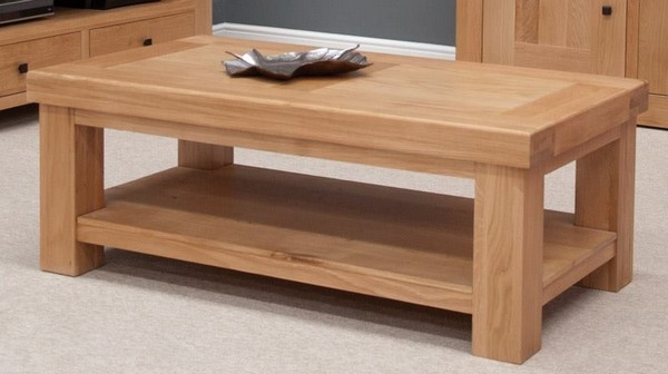 Stunning Common Oak Coffee Tables With Shelf With Oak Living Room Tables Collection In Oak Coffee Table Square (Image 35 of 40)