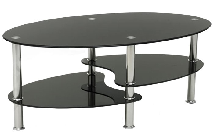Featured Image of Oval Black Glass Coffee Tables