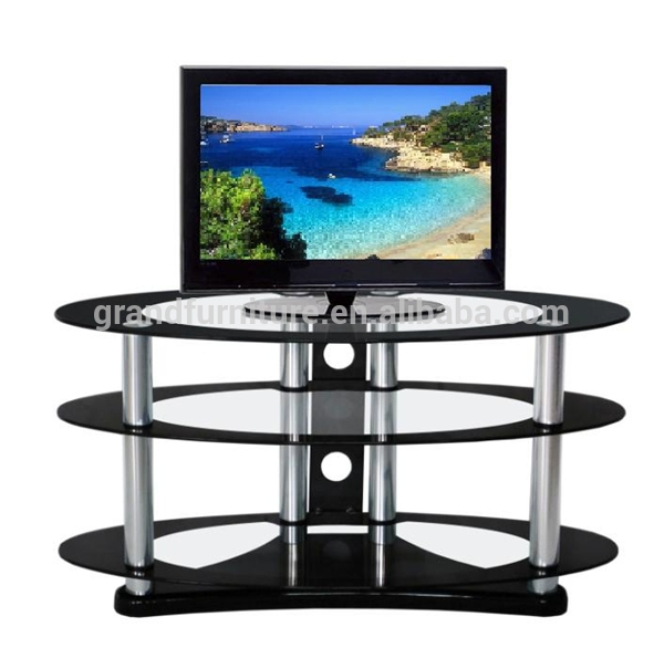 Stunning Common Oval Glass TV Stands In Round Glass Tv Stand Round Glass Tv Stand Suppliers And (Image 41 of 50)