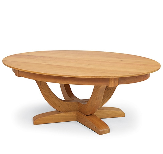 Stunning Common Oval Wooden Coffee Tables Inside Pompanoosuc Mills (Image 40 of 50)