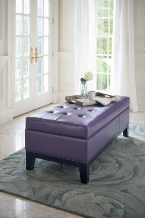 Stunning Common Purple Ottoman Coffee Tables Regarding Purple Leather Ottoman Foter (Image 34 of 40)