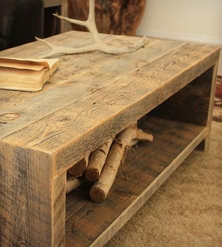 Stunning Common Reclaimed Wood Coffee Tables Inside Best 10 Reclaimed Wood Coffee Table Ideas On Pinterest Pine (View 3 of 50)