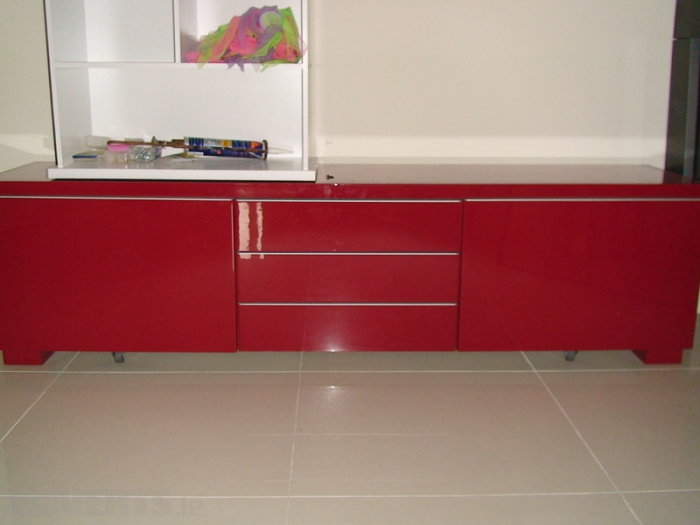 Stunning Common Red Gloss TV Stands Intended For Ikea Besta Burs Tv Stand Unit Red High Gloss For Sale In (View 2 of 50)