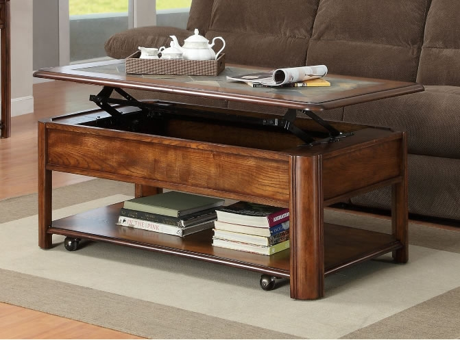 Stunning Common Round Coffee Tables With Drawers Throughout Lift Top Small Coffee Table With Storage Drawers Eva Furniture (View 40 of 50)