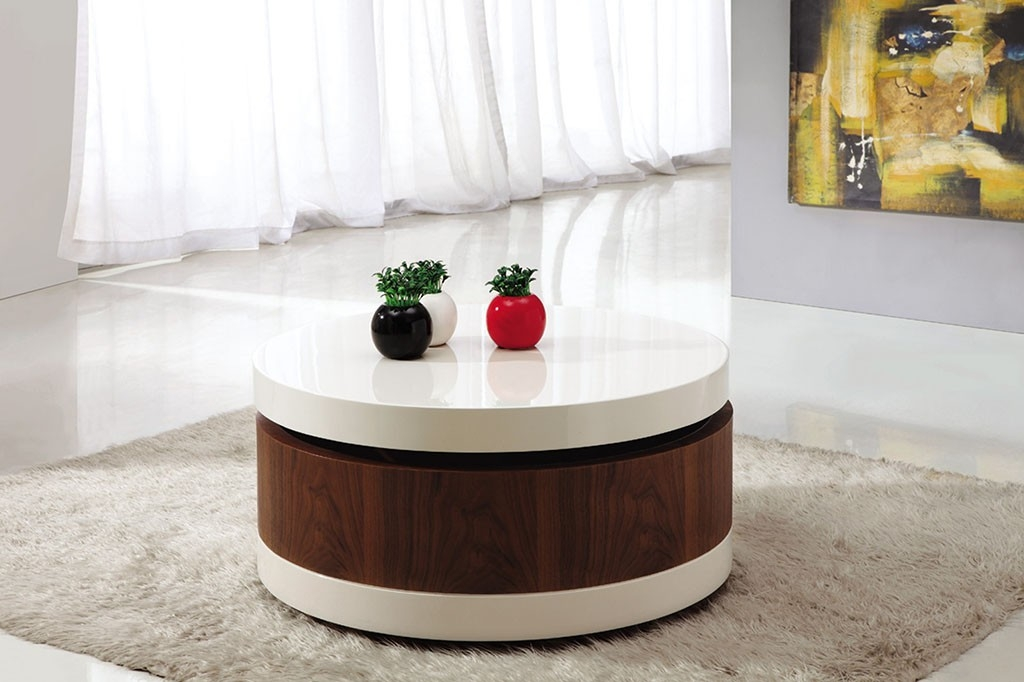 Stunning Common Round High Gloss Coffee Tables With Regard To Round High Gloss Coffee Table (View 11 of 50)