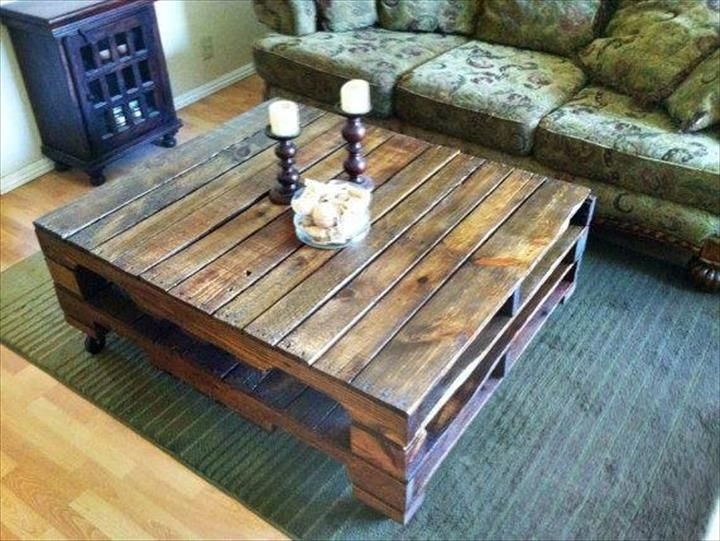 Stunning Common Rustic Wood DIY Coffee Tables Regarding Best 20 Pallet Coffee Tables Ideas On Pinterest Paint Wood (Image 43 of 50)