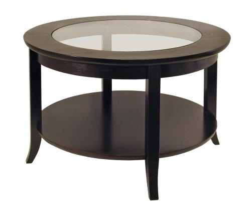 Stunning Common Small Round Coffee Tables Regarding Amazon Winsome Wood Round Coffee Table Espresso Kitchen (Image 39 of 50)