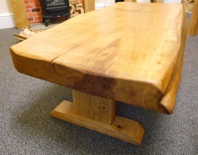 Stunning Common Solid Oak Coffee Tables For Unique Solid Oak Rustic Coffee Table 4ft Welcome To Acorn Oak (View 48 of 50)