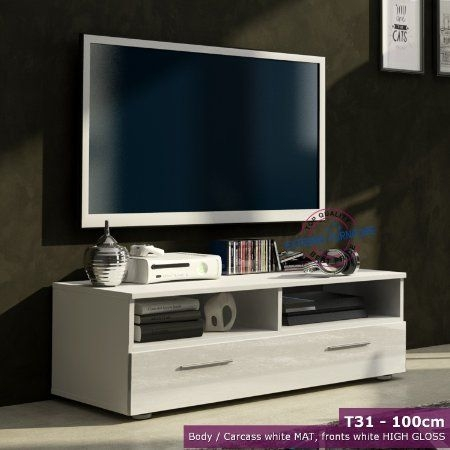 Stunning Common TV Stands 100cm Throughout Best 20 White Gloss Tv Unit Ideas On Pinterest Tv Unit Images (View 28 of 50)