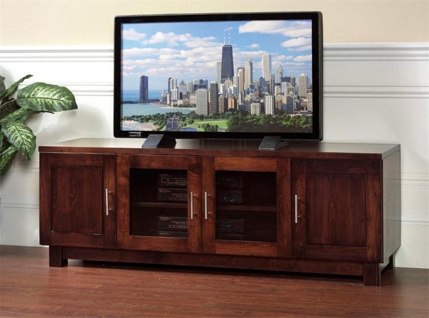 Stunning Common Wooden TV Cabinets With Glass Doors Pertaining To Tv Cabinet With Doors For Flat Screen (Image 44 of 50)