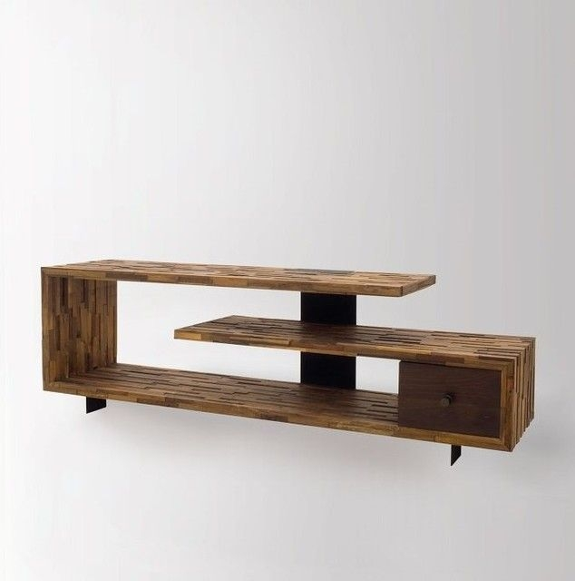 Stunning Common Wooden TV Stands Intended For Wooden Tv Stand Made Using Hard Wood (Image 42 of 50)