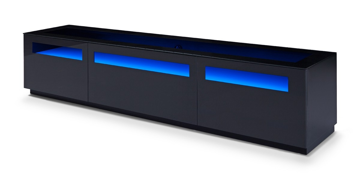 Stunning Deluxe Blue TV Stands For Brown Oak Blue Led Light And Glass Top Tv Stand Chicago Illinois (Image 40 of 50)
