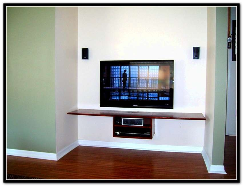 Stunning Deluxe Floating Glass TV Stands Within Tv Stand With Floating Glass Shelves Home Design Ideas (Image 43 of 50)
